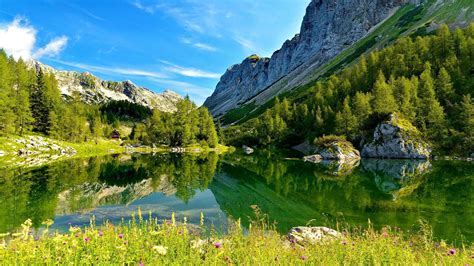 slovenia lake lake triglav slovenia hd desktop wallpaper widescreen