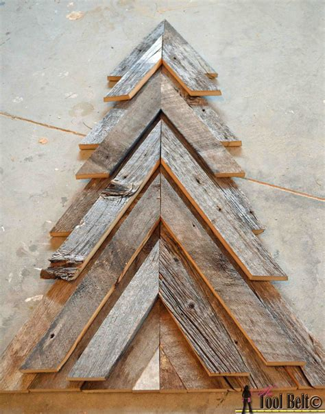 rustic christmas tree her tool belt