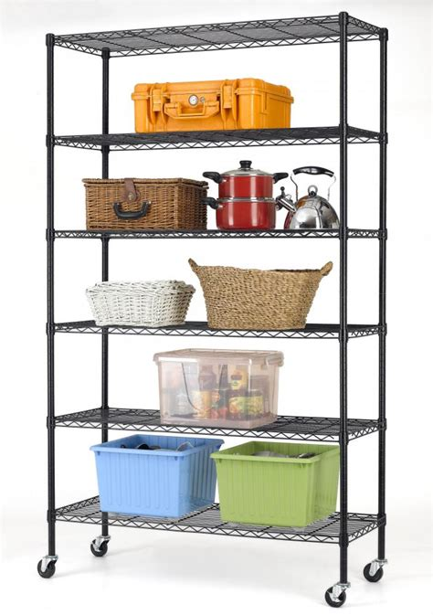 commercial kitchen wire shelving commercial 82 quot x48 quot x18 quot 6 tier layer shelf adjustable wire