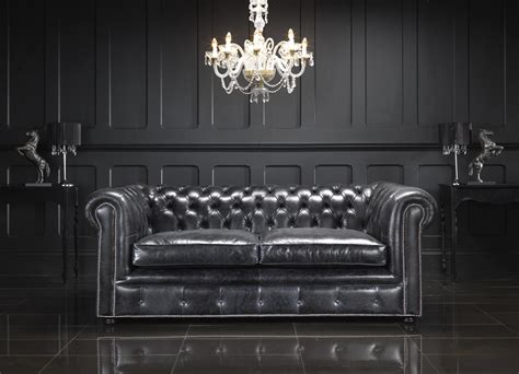 chesterfield sofa living room living room with black leather chesterfield sectional sofa