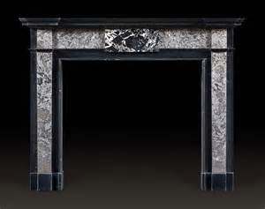 antique kilkenny black marble fireplace mantel of george
