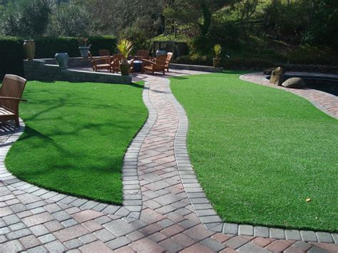 Grass Patio by Synthetic Grass Paver Patio Installation Yelp