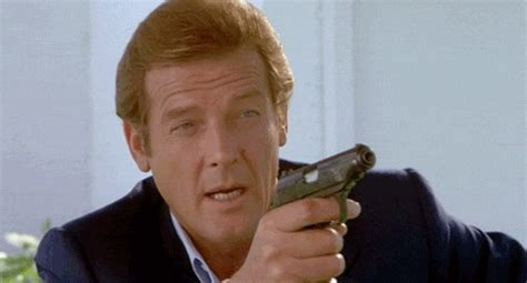 james bond gif roger moore gifs find share on giphy