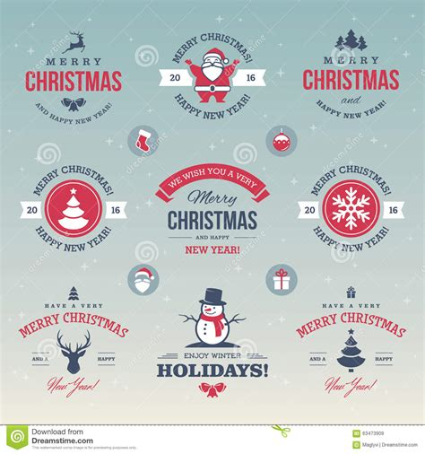 new year signs and symbols colored labels stock vector image 63473909