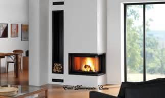 modern built in fireplace insert bois 224 installer dans un angle grand foyer fonte
