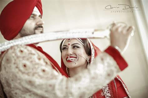 Marriage Portrait Photography by Ren Ram Sikh Wedding In Silicon Valley California