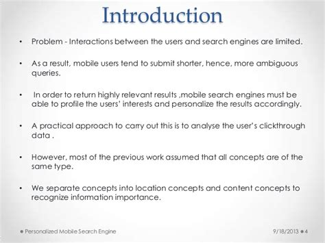 mobile search engine personalized mobile search engine