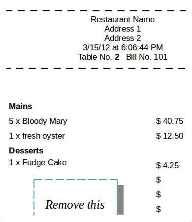 printable restaurant receipt template sales receipt template 17 free word pdf documents