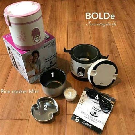 Cook Bolde 0 6l Rice Cooker Mini 3 In 1 cook bolde mini rice cooker 0 6 liter alat masak nasi portable