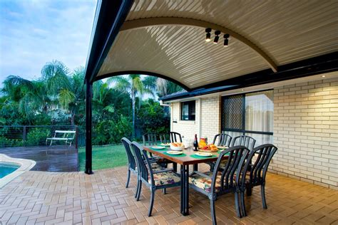 Curved Patio - the stratco outback curved roof patio is a unique sleek