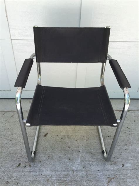 vintage italian chrome chairs unsigned arper italian black leather chrome chair vintage