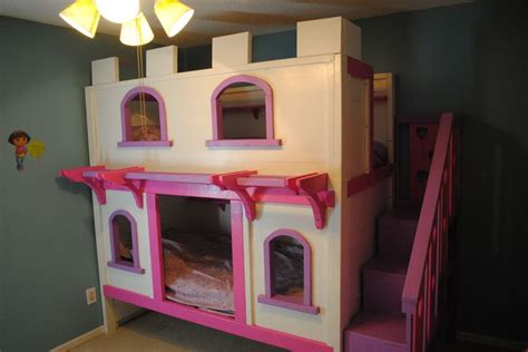 diy girls bed girls princess castle bunk beds diy projects around the