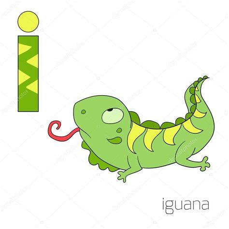 imagenes animadas de iguanas alfabeto letra i vector de los ni 241 os de iguana archivo