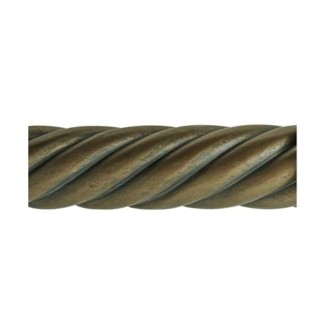Beme International 2 Inch Diameter Twist Wood Drapery Rod