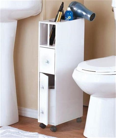 slim spacesaving rolling bathroom storage organizer