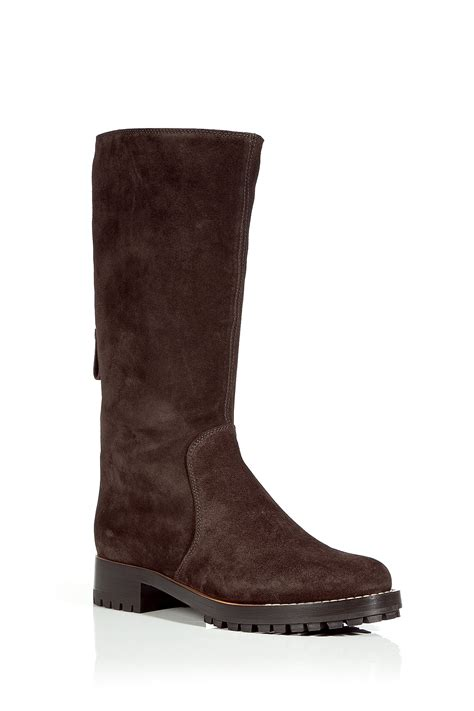 sergio chocolate suede boots in brown chocolate lyst
