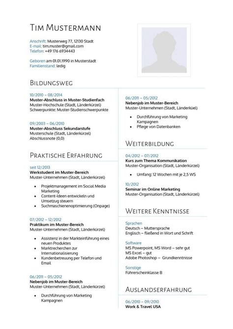 Moderner Bewerbung Vorlage 31 Best Lebenslauf Vorlagen Muster Images On Education Templates And Career