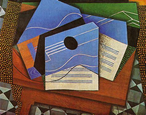 Synthetischer Kubismus Picasso by Juan Gris Gitarre Auf Einem Tisch 1915