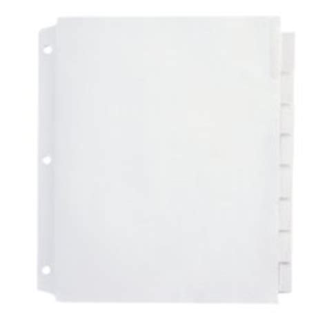Amazon Com Office Depot Insertable Extra Wide Dividers With Big Tabs Clear 8 Tab Od14796 Office Depot Index Divider Templates