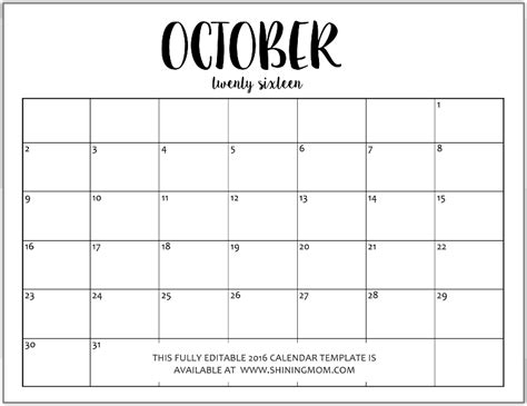 ms calendar template just in fully editable 2016 calendar templates in ms word