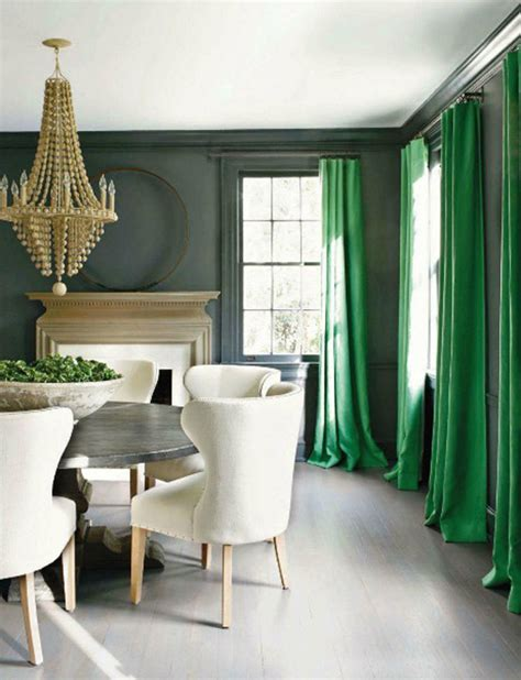 dining room drapery kelly green emerald traditional dining design curtains