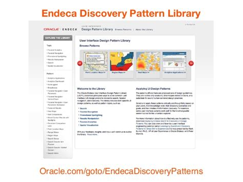 endeca pattern library discovery and the age of insight walmart eim open house 2013