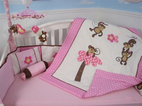 Pink Monkey Crib Bedding Sets Soho Pink Monkey Baby Crib Nursery Bedding Set 13 Pcs Included Bag With Changing