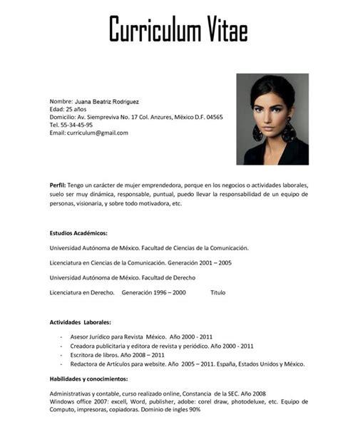 Ejemplo Curriculum Vitae Europeo Relleno Curriculum Vitae De Un Arquitecto Ejemplo