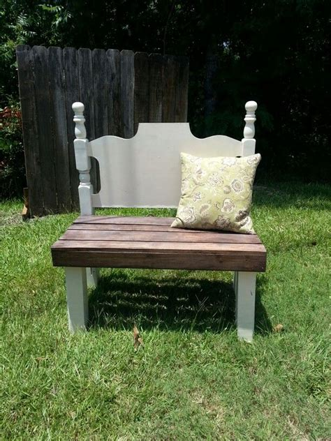 diy headboard bench upcycled shabby chic wood creations