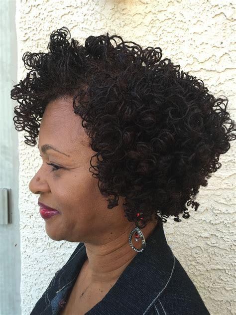 short hair with perm weaves my sisterlocks perm rod set pinteres