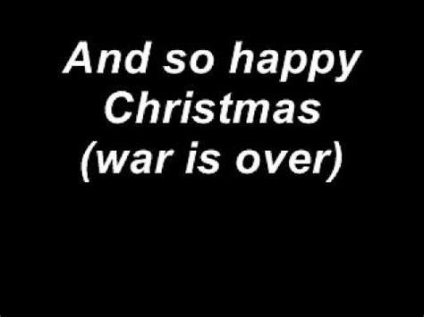 john lennon    christmas  lyrics youtube
