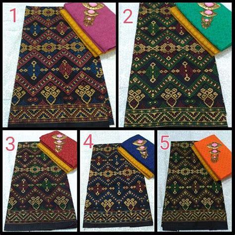 Kain Batik Prada Pekalongan Motif Songket Set Embos Warna Biru satu set kain batik prodo dan kain batik embos ka3 5 batik pekalongan by jesko batik