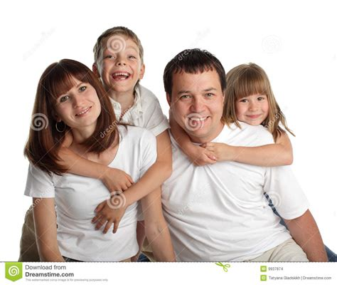 beautiful family beautiful family with two children stock images image 9937874