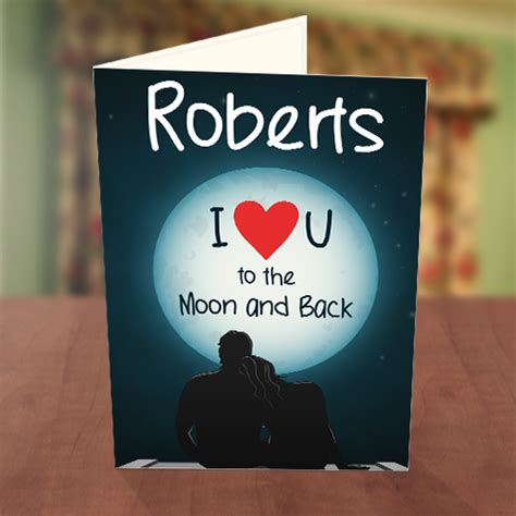 To The Moon And Back Valentines Day Card Template by To The Moon And Back Card Greetings World