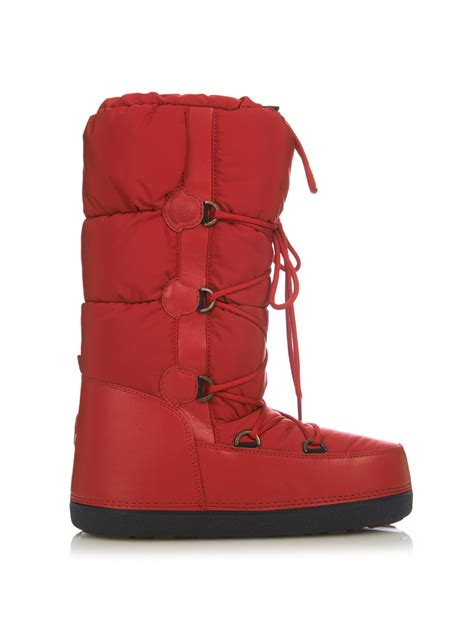 apres ski boots s moncler moon quilted apr 233 s ski boots in lyst