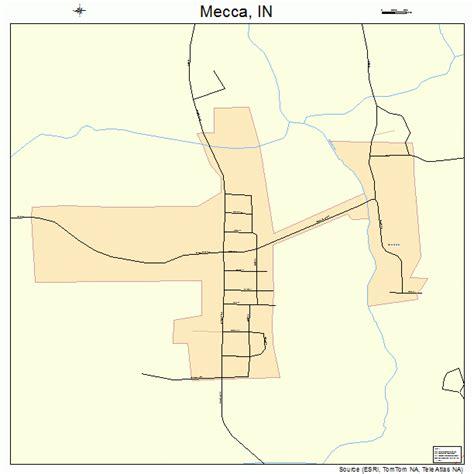 mecca map mecca indiana map 1848132