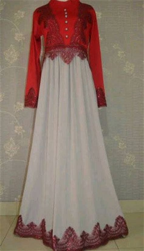 contoh model desain baju muslim brokat terbaru