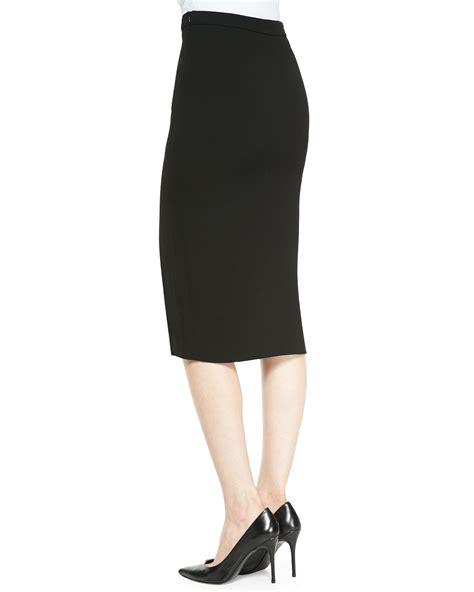 a l c tonne pencil skirt with front slit in black lyst