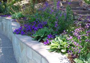 Lavender Bathroom Ideas retaining wall footing landscape mediterranean with
