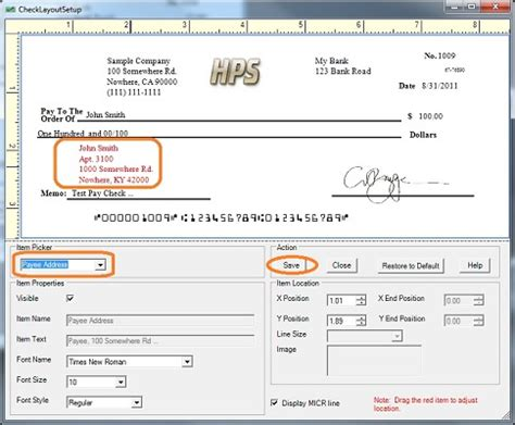 Address Check How Can I Customize The Payee Address On Check