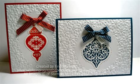 ornament keepsakes christmas cards works in progress