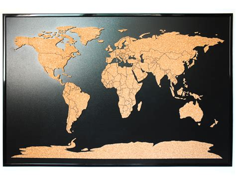 map of your travels world map push pin corkboard with countries outlined cork