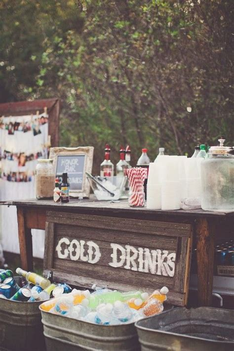 18 unique creative wedding drink bar ideas for outdoor