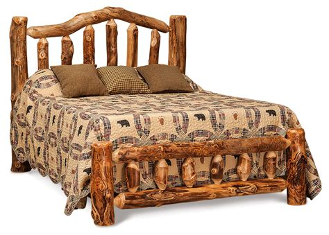 Log Headboard And Footboard by Log Bed Low Footboard Hardwood Creations