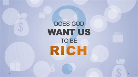But Do You To Be Rich And To Wear These by Does God Want Us To Be Rich