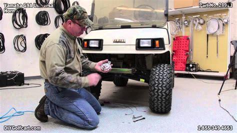 universal golf cart horn kit   install  yamaha