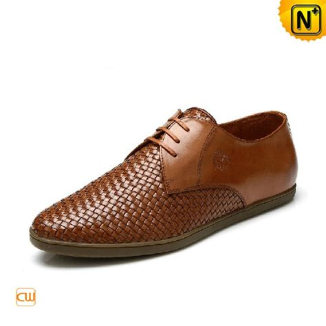 s classic shoes 2012 men s weaved leather brown