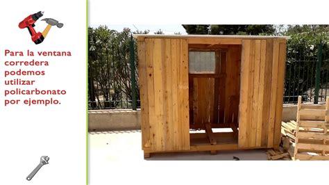 cobertizo con palets construir caseta de madera con palets youtube