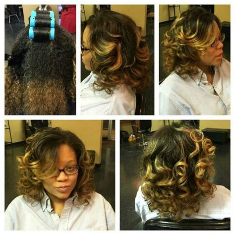 Roller Wrap Hairstyles For Hair Black by 45 Best Images About Hair Ideas On