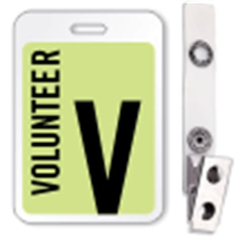 Buy Volunteer Reusable Id Name Badge Lowest Prices On Web Sku Bd 0413 Volunteer Badge Template